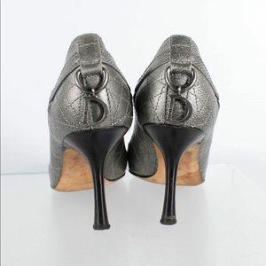 Christian Dior Cannage Peep Toe Pumps